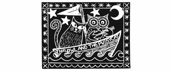 The Owl And The Pussycat, Black Background
