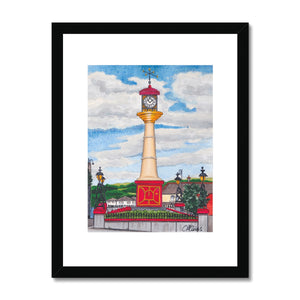 Tredegar Town Clocktower Framed Print