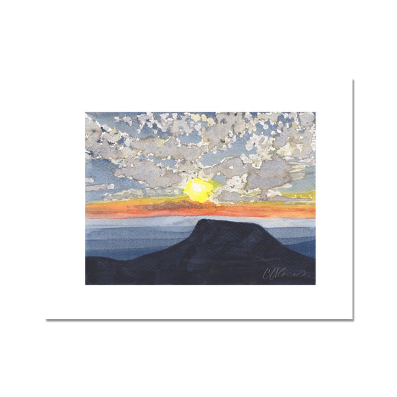 Pen Y Fan At Sunset Fine Art Print