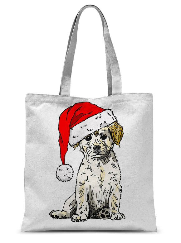 Christmas Doggy Sublimation Tote Bag