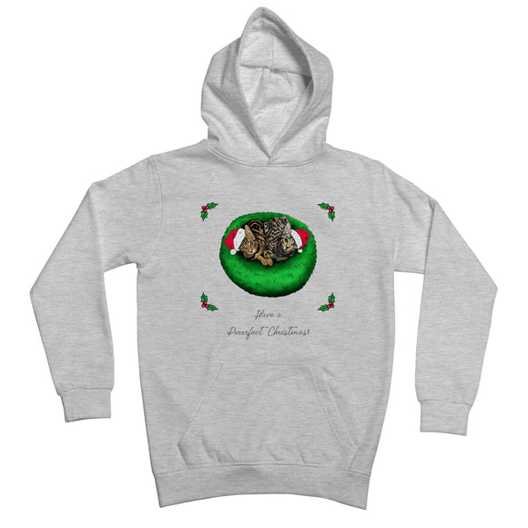 Have A Purrrfect Christmas Kids Retail Hoodie