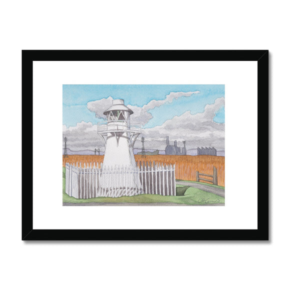 The Lighthouse The Wetlands Newport Framed Print
