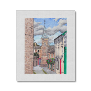 The Clocktower Hay-On-Wye Canvas
