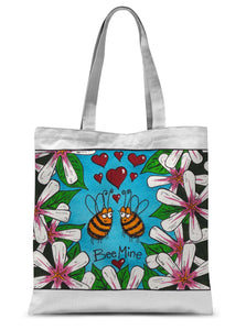 Bee Mine Sublimation Tote Bag