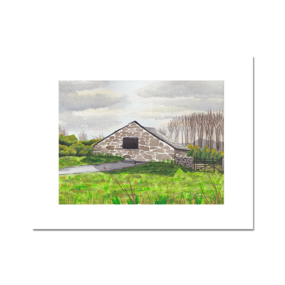 St.Fagans Farmhouse In A Field Fine Art Print