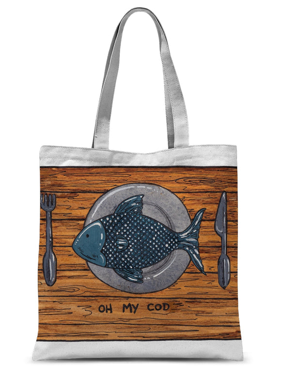 Oh My Cod Sublimation Tote Bag