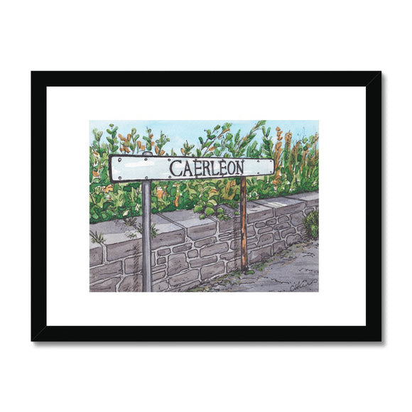 Caerleon Road Sign Framed Print