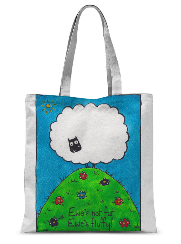 Ewe's Not Fat Ewe's Fluffy Sublimation Tote Bag