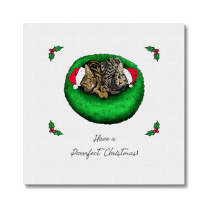 Have A Purrrfect Christmas Canvas