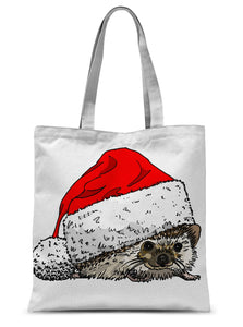 Christmas Hedgehog Sublimation Tote Bag