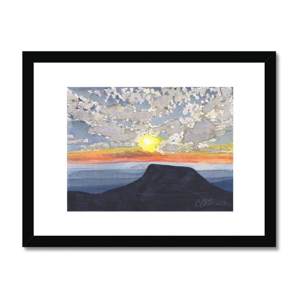 Pen Y Fan At Sunset Framed Print