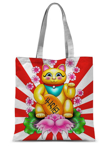 Lucky Cat Sublimation Tote Bag