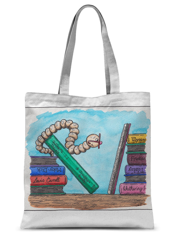 Bookworm 2 Sublimation Tote Bag