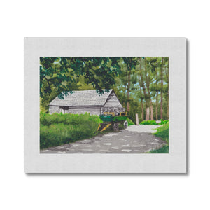 St.Fagan's Farmhouse And Cart Canvas