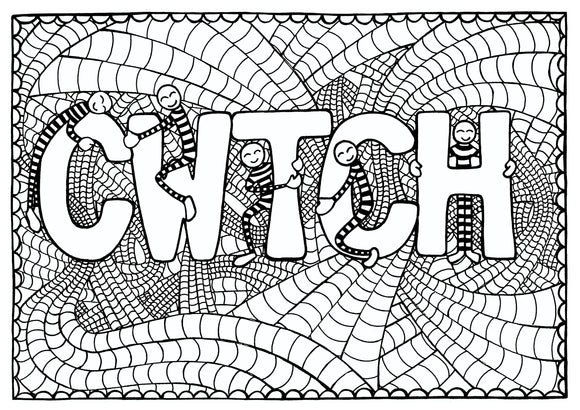 Cwtch - Welsh Words Colouring Sheet - Digital Download