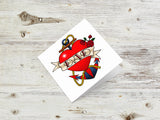 Love, Dad, Mum Tattoo Greetings Cards