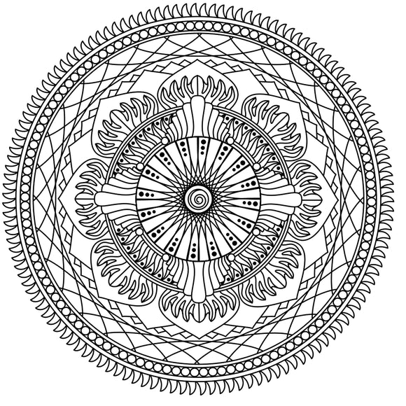 Mandala Colouring Sheet 13 - Digital Download