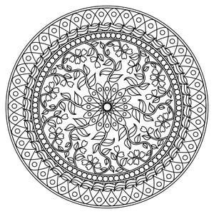 Mandala Colouring Sheet 17 - Digital Download