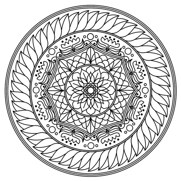 Mandala Colouring Sheet 7 - Digital Download