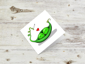 Two Peas In A Pod Greetings Card