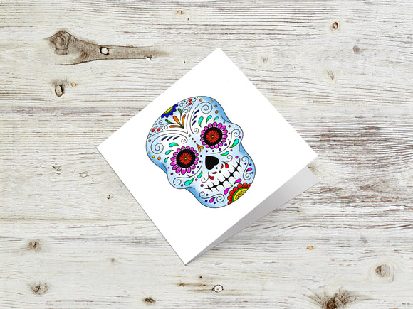 Sugar Skull Day Of The Dead Greetings Card