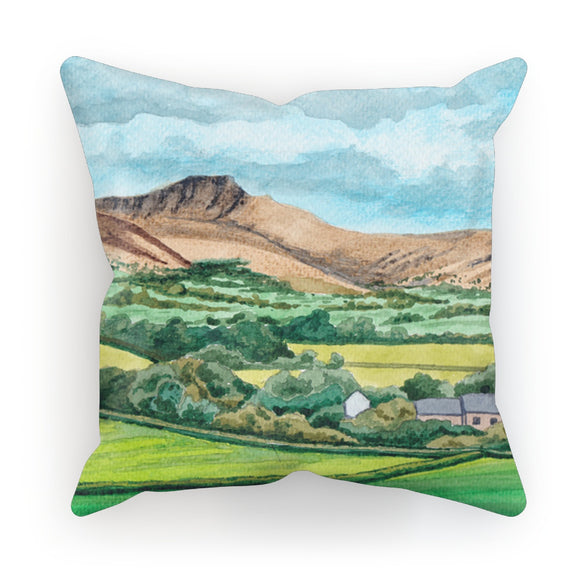 Pen Y Fan With Cottages Cushion