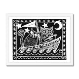 The Owl And The Pussycat, Black Background Framed Print