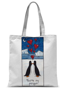 You're My Penguin Sublimation Tote Bag