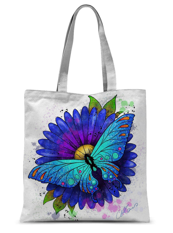 Butterfly Sublimation Tote Bag