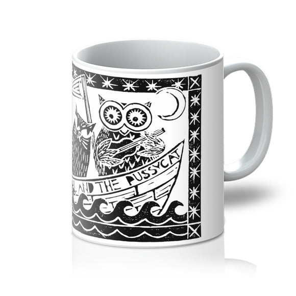 The Owl And The Pussycat, White Background Mug