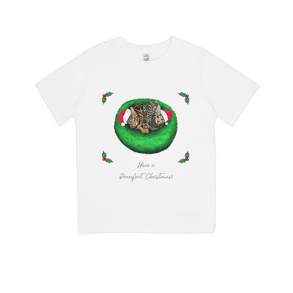 Have A Purrrfect Christmas Kids 100% Organic T-Shirt