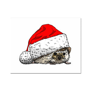 Christmas Hedgehog Fine Art Print