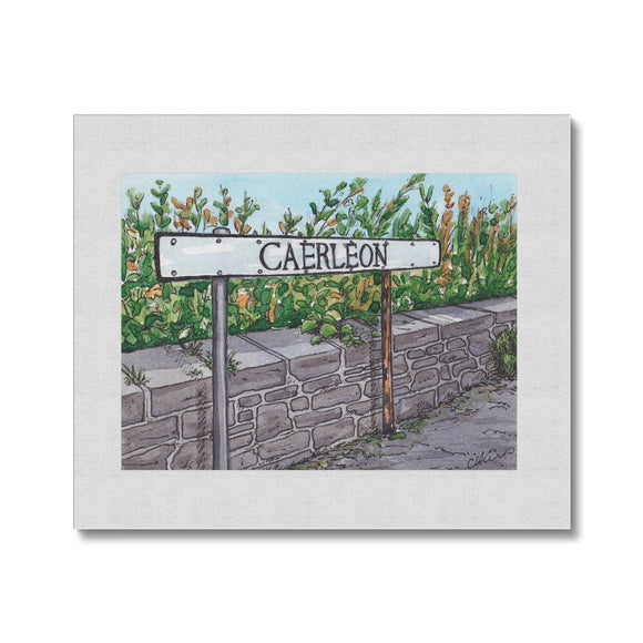 Caerleon Road Sign Canvas