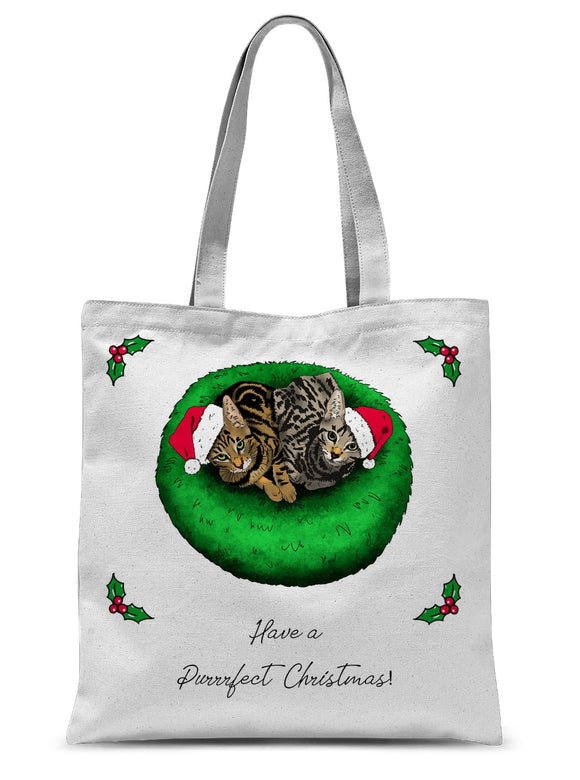 Have A Purrrfect Christmas Sublimation Tote Bag
