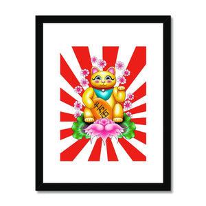 Lucky Cat Framed Print