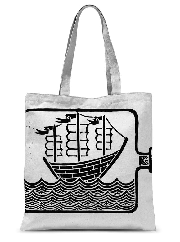 Ship In A Bottle Sublimation Tote Bag