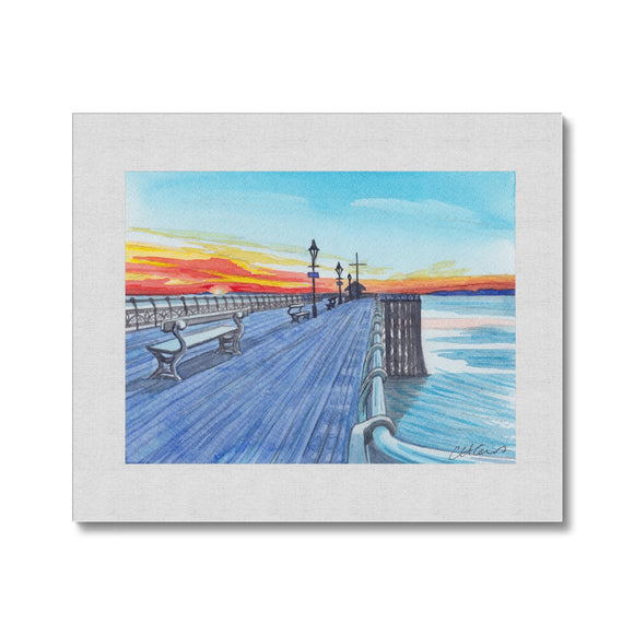 Penarth Pier Sunset Canvas