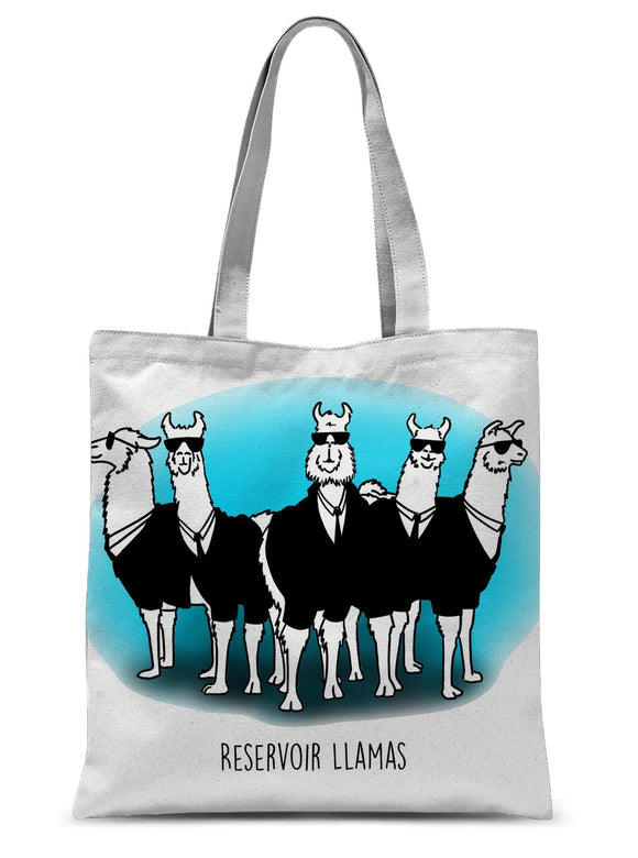 Reservoir Llamas Sublimation Tote Bag