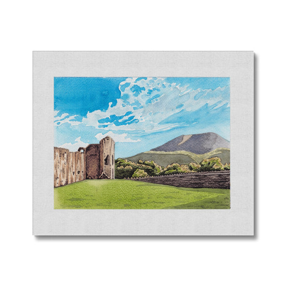 Abergavenny Castle With The Blorenge Canvas