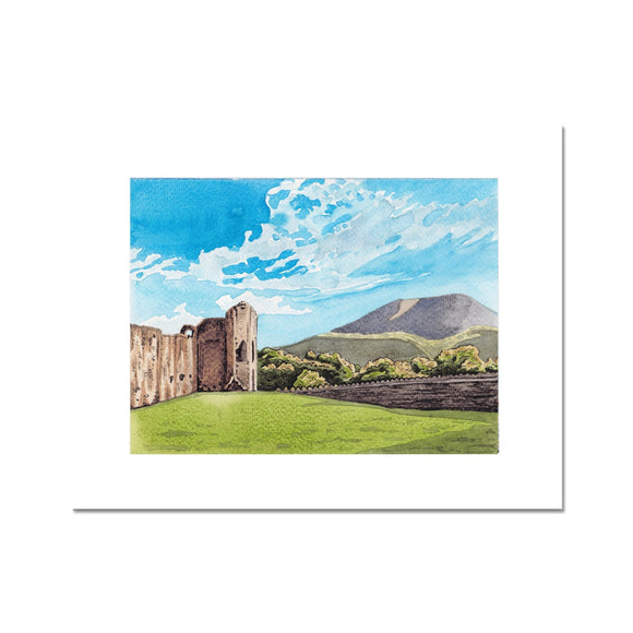Abergavenny Castle With The Blorenge Fine Art Print