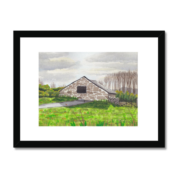 St.Fagans Farmhouse In A Field Framed Print