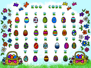 FREE - Easter Egg Code Treasure Hunt - Digital Download