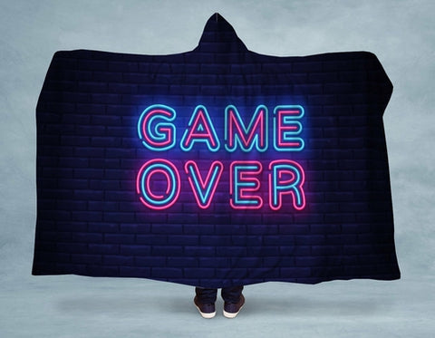 Game Over Hooded Blanket 🇺🇸