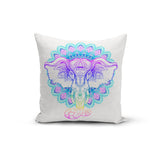 Rainbow Elephant Mandala Pillow Cover 🇺🇸