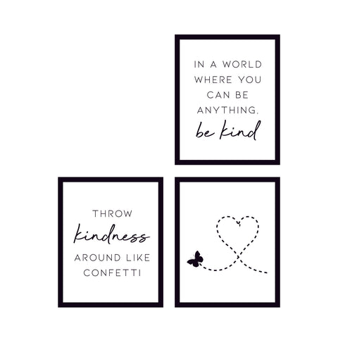 Be Kind Wall Art Collection 🇺🇸