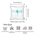 "Watercolor Dragonfly Square 18"" Pillow Cover  (Set of 2)"