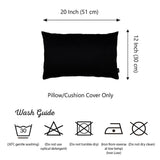 Honey Black Lumbar Pillow Cover Set (Set of 2)