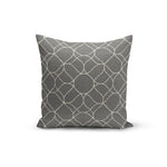 Grey Trellis Pillow Cover