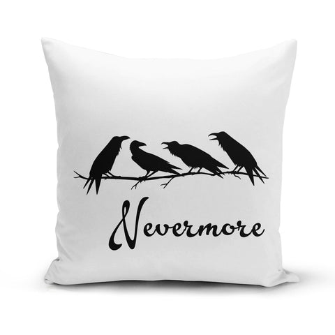 Ravens Nevermore Pillow Cover 🇺🇸