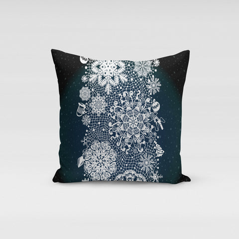 Winter Lace Pillow Cover